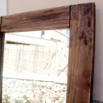 Antique Wood Pallet Mirror
