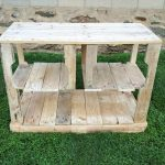 Rustic Pallet Kitchen Island / Pallet Media Console