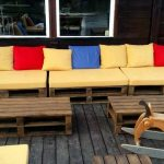 Wooden Pallets Ship Deck / Garden Furniture