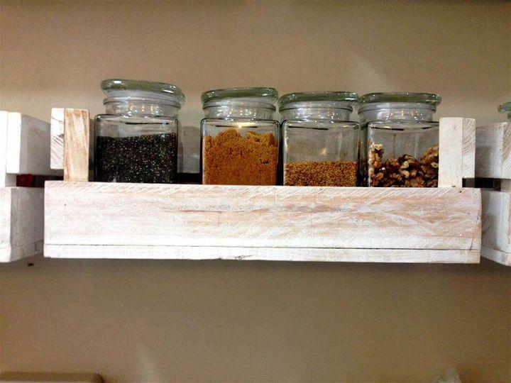pallet kitchen wall shelves