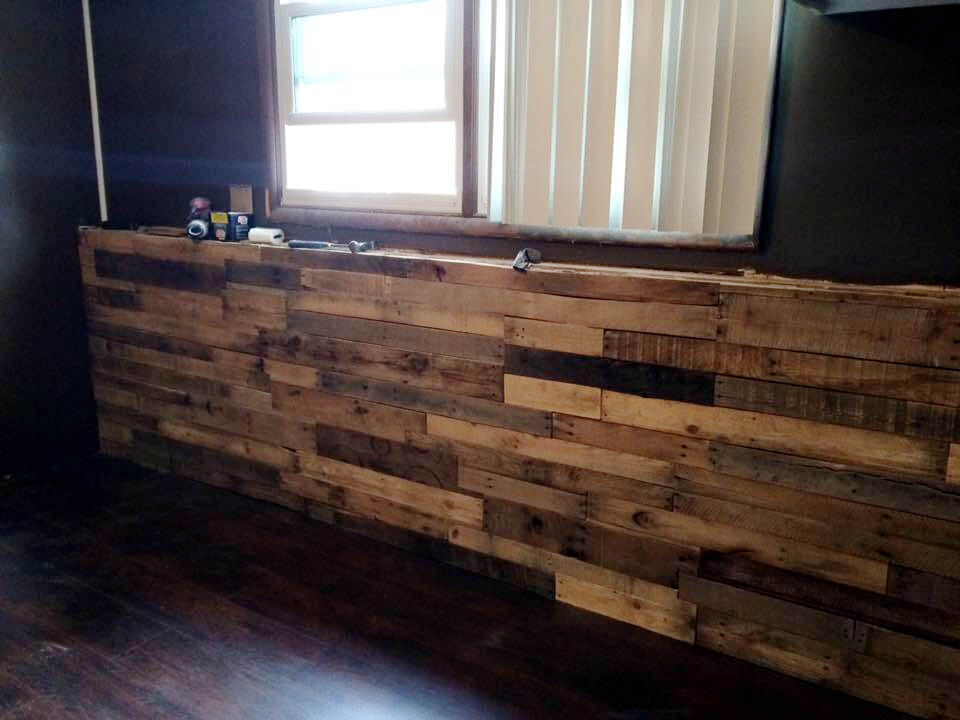 recycled pallet XL indoor bar