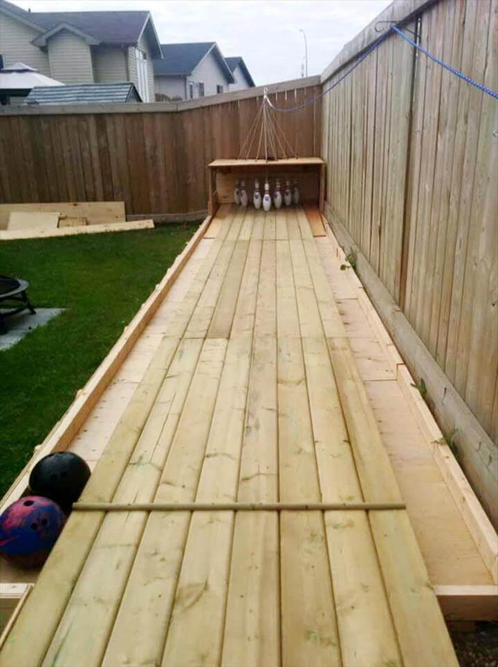 Diy pallets bowling alley project 99 pallets - How to build an alley out of reused bricks ...