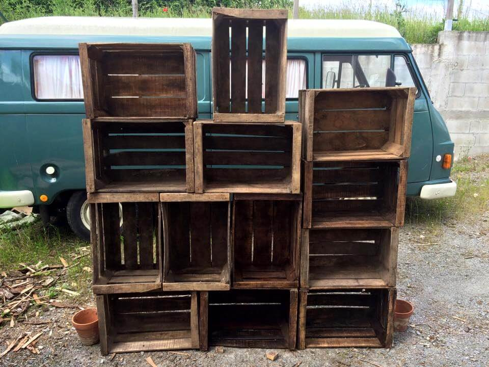 DIY Pallets Crate Shelf Unit 99 Pallets