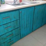 Pallet Kitchen Cabinets and Drawers