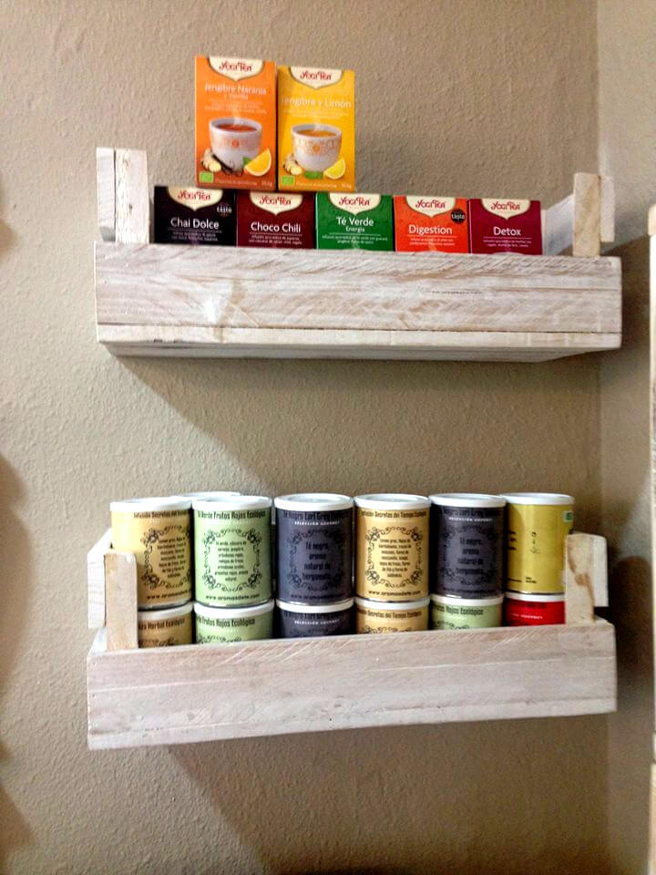 no-cost pallet floating kitchen wall shelves