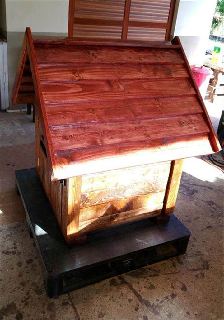 handmade pallet mailbox or parcel box