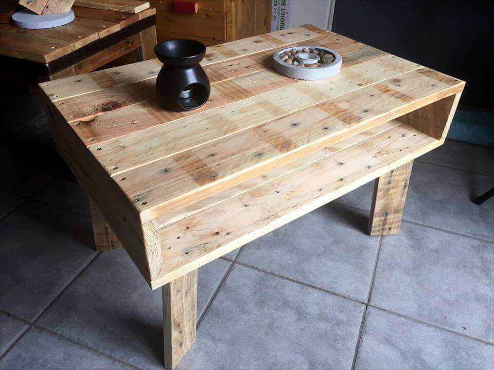 Mini Pallet Coffee Table Or Kids Study Desk 99 Pallets