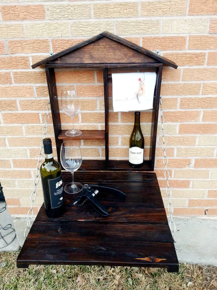 no-cost pallet outdoor patio wall bar