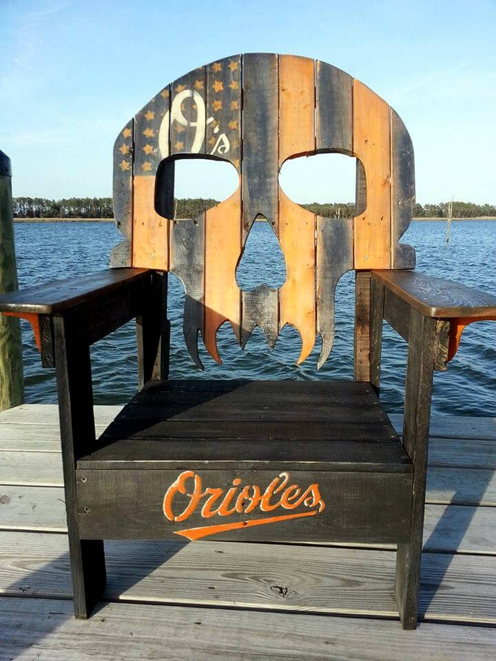 Pallet Skull Chair   99 Pallets