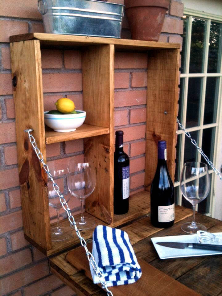 handcrafted pallet folding down outdoor bar