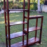 Multi-functional Wooden Pallet Rack Unit