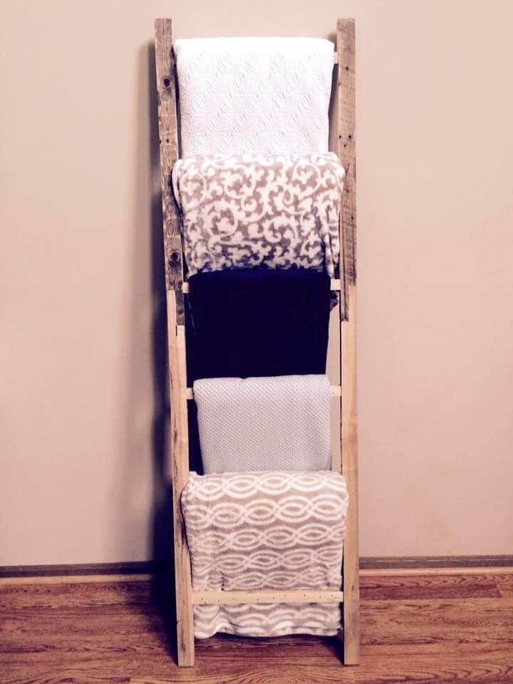 Pallet Blanket Ladder Shelf 99 Pallets