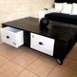 Pallets Upcycled Coffee Table with Drawers