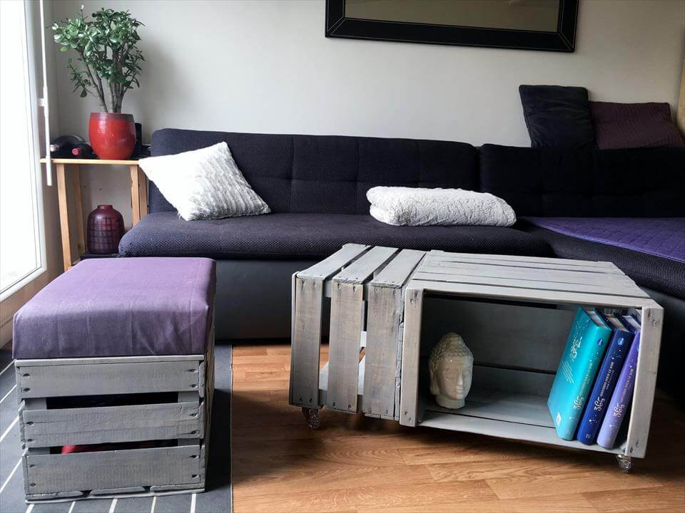 pallet wood made crate coffee table 99 pallets