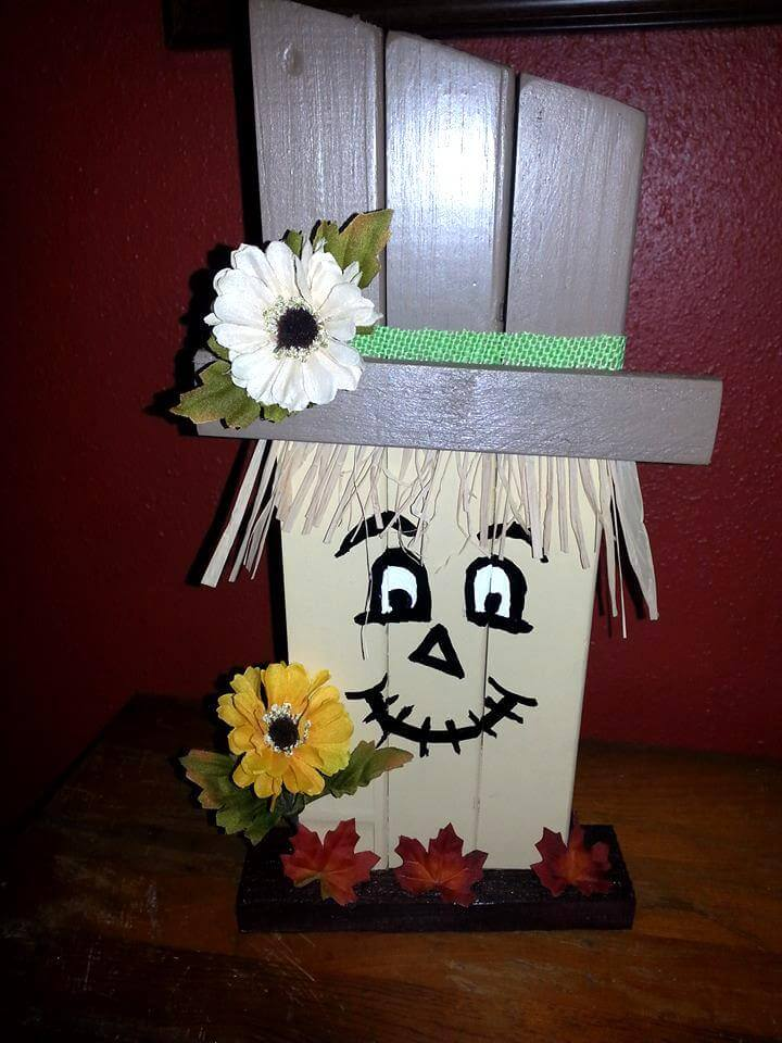 Recycled pallet Halloween goblin