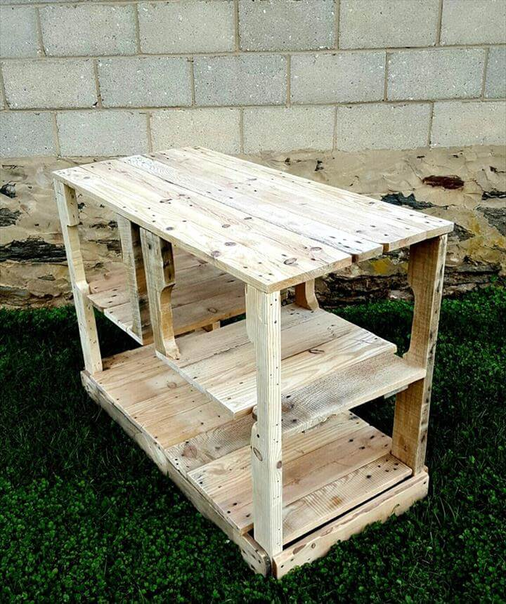 Kitchen Island Out Of Pallets: Rustic Pallet Kitchen Island / Media Console
