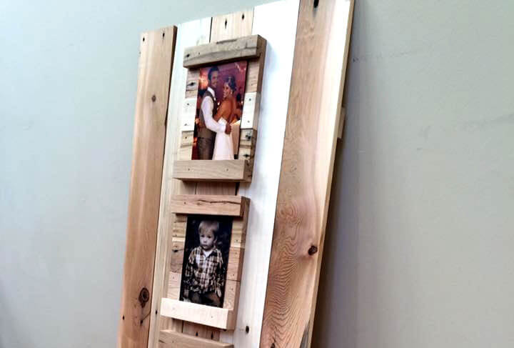 reclaimed pallet picture display