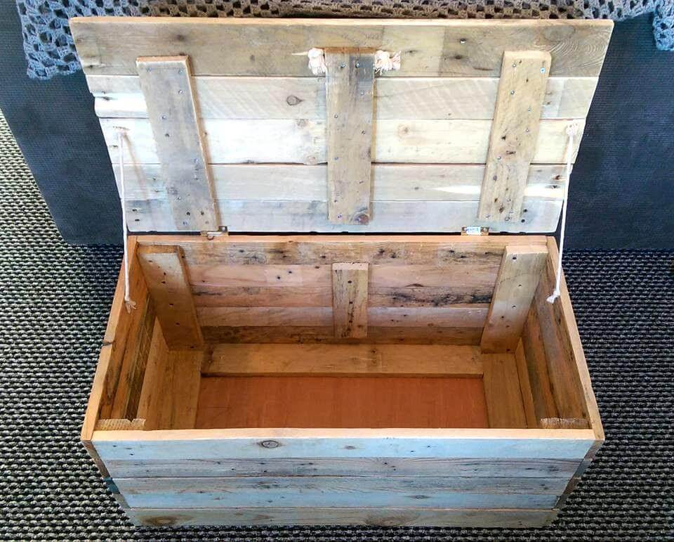 DIY Wood Pallet Toy Storage Box | 99 Pallets