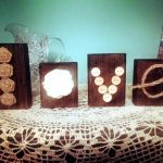 Wooden Pallet Blocks LOVE Art