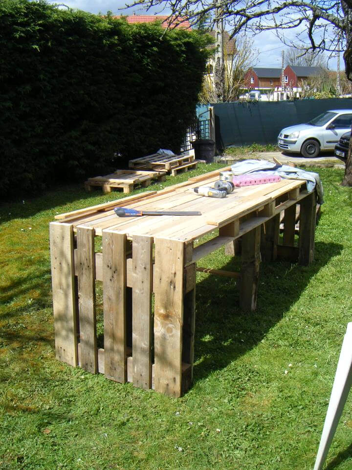handcrafted pallet garden table