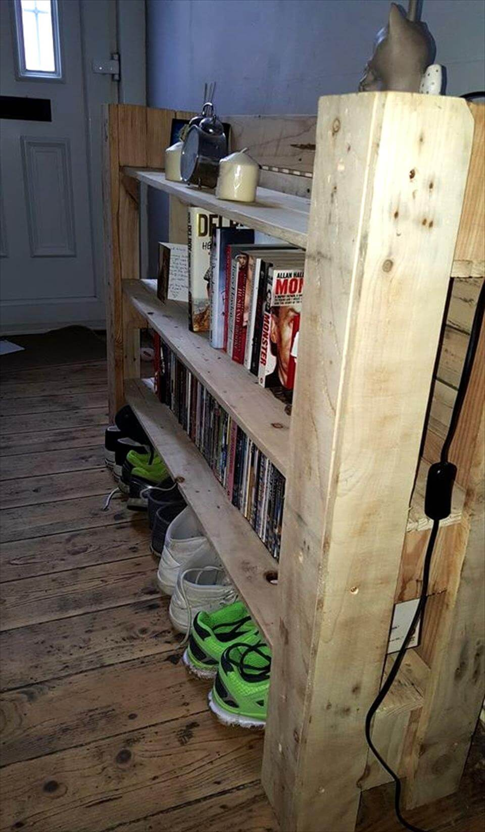 wooden pallet multi-functional shelf unit