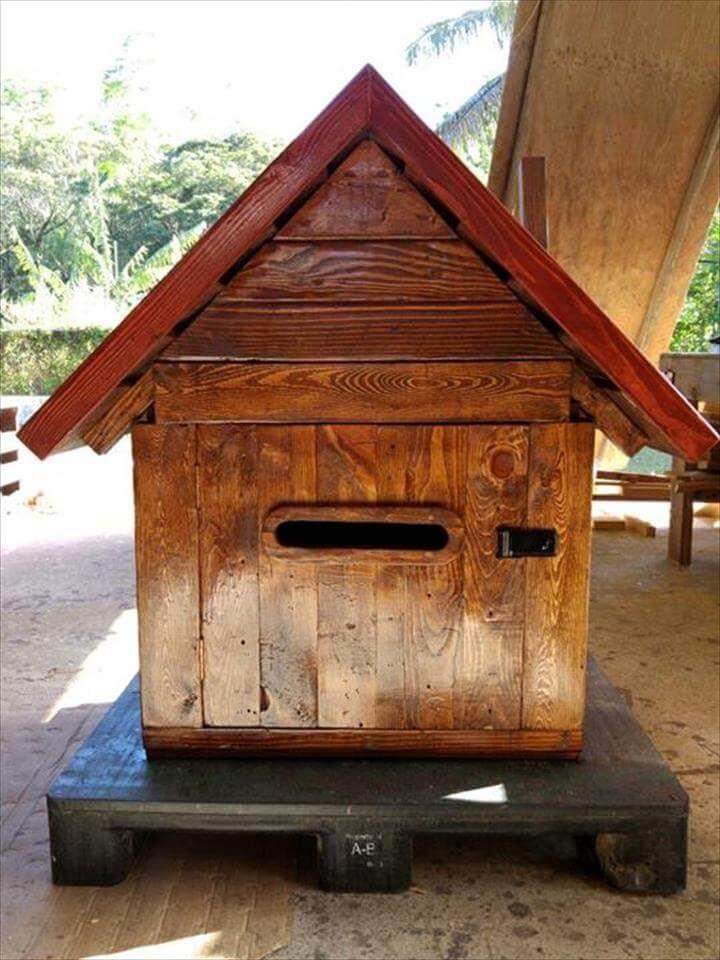 custom-built pallet mailbox or parcel box
