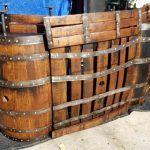 Wood Pallet and Old Barrel Bar