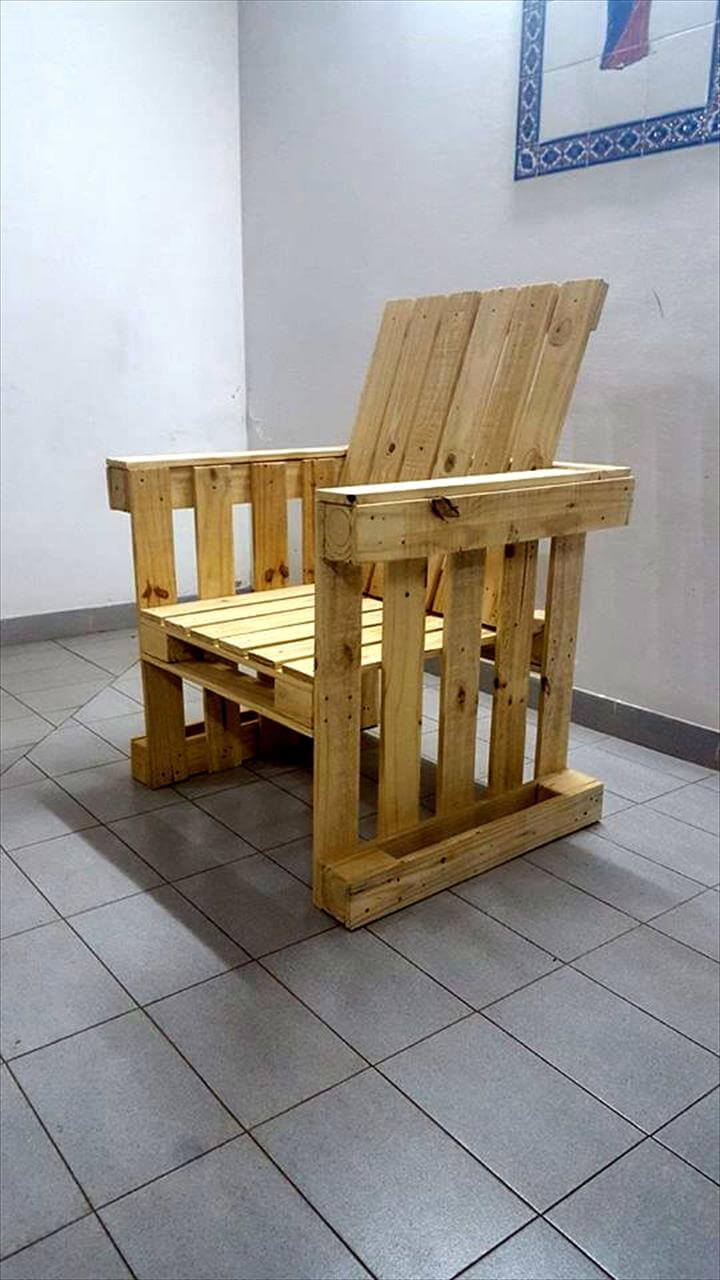 diy pallet armchair design 99 pallets