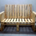 Pallet Bench with Arms