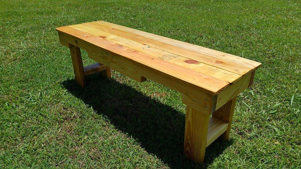 DIY Wood Pallet Garden Bench 99 Pallets