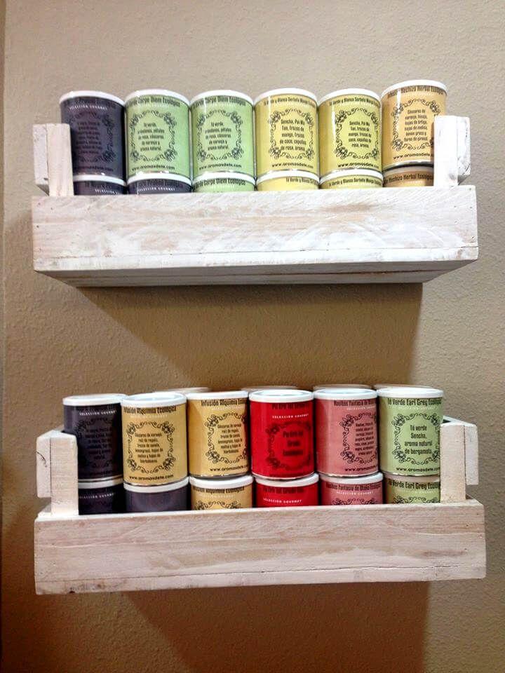 Reclaimed pallet shelves for kitchen 99 pallets for Pallet floating shelves