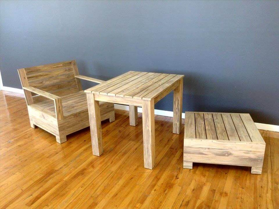 no-cost pallet garden sitting set