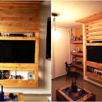 Pallet Media Wall / Entertainment Center