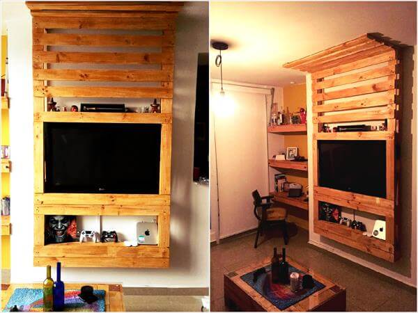 Pallet Tv Stand / Media Wall