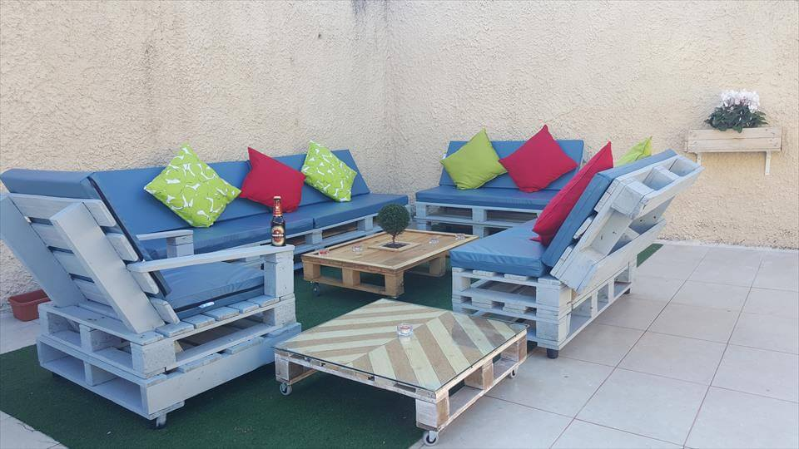 no-cost pallet patio sofa set
