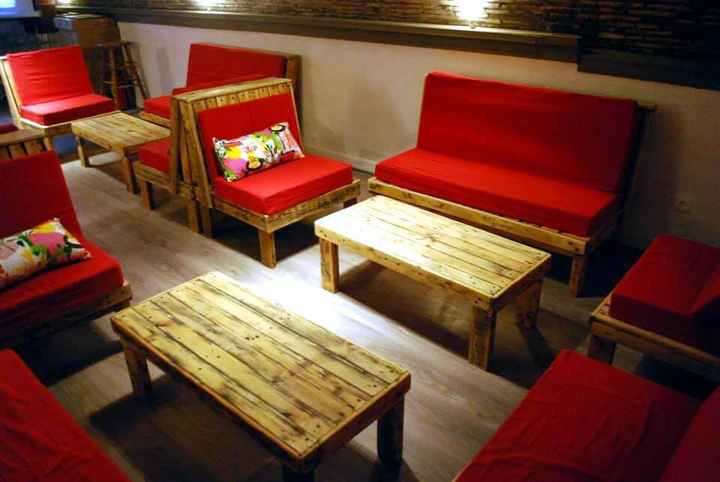 diy pallet restaurant furnishing