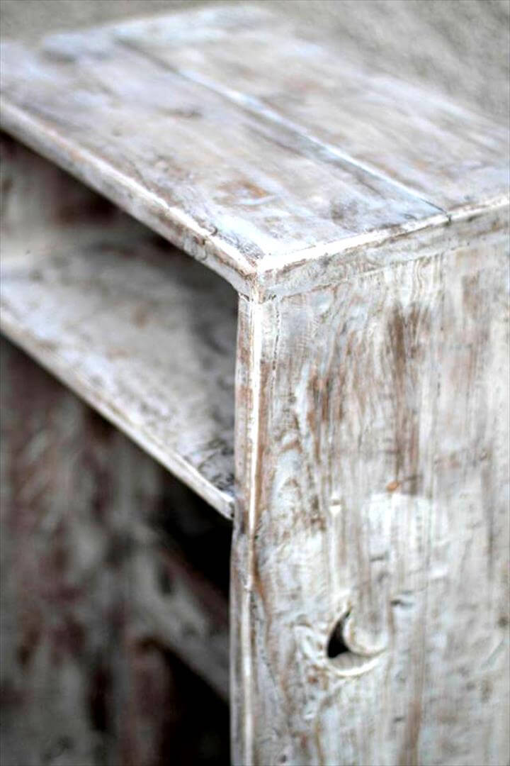 Recycled pallet side table or night stand