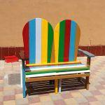 Pallet Adirondack Rainbow Benches