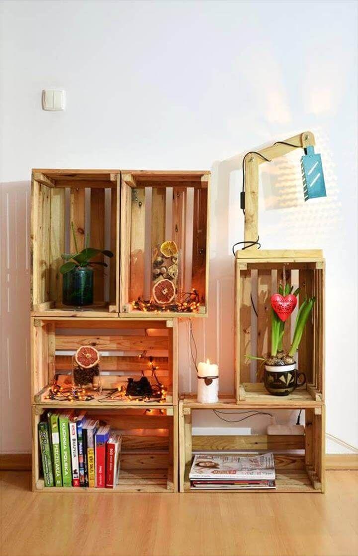 Diy Wood Pallet Crate Storage Amp Decorations