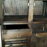 Black Painted Pallet Cupboard