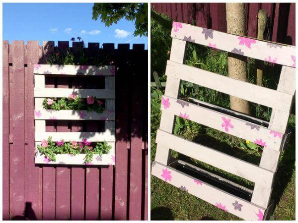 Pallet vertical Planter Design