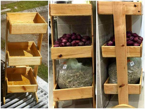 Wooden Pallet Vegetable and Fruit Rack