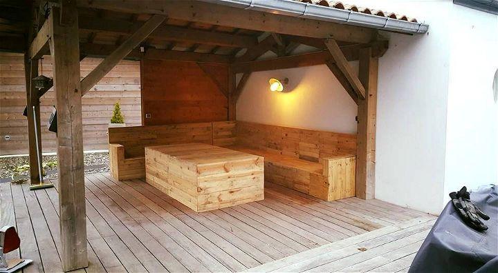 Pallet Deck Furniture Under Gazebo 99 Pallets