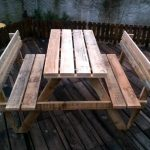 Build Pallet Picnic Table with Backrest