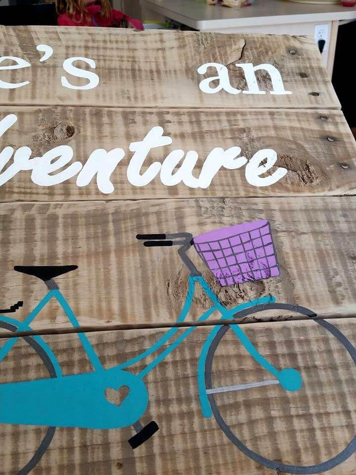 handmade pallet wall art sign for life