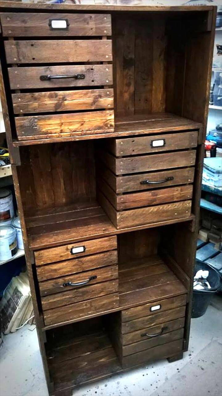 Pallet Chest of Drawers / Bookcase / Cabinet