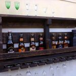DIY Pallet Beverage Bottle Rack + Glasses