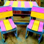 DIY Colorful Pallet Furniture for Kids