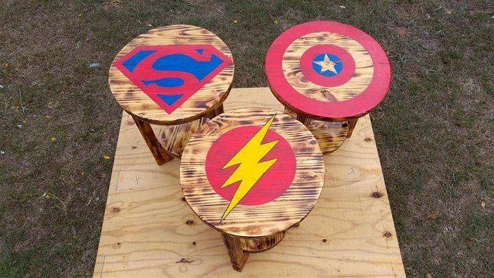 pallet superhero round tables