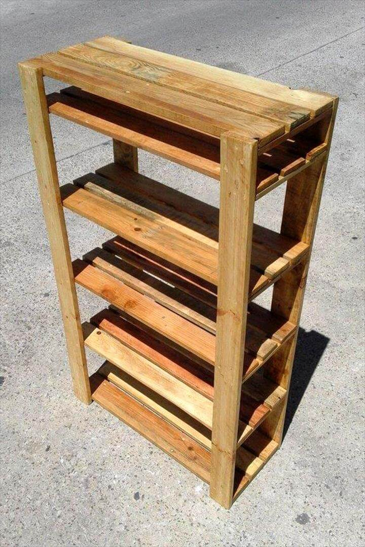 Easy To Make Pallet Shoe Rack 99 Pallets